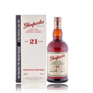 Glenfarclas 21 with Ian Buxtons 101 World Whisky Book